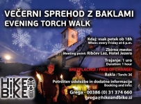 Evening Torch Walk with a tour in Church of St. John the Baptist