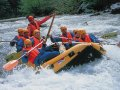 Rafting on the rapids